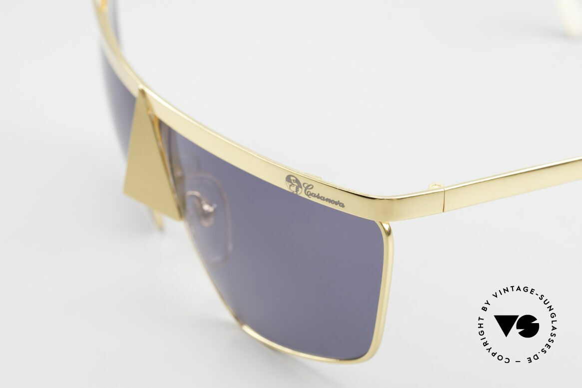 Casanova FC10 Noseguard Sunglasses 24kt, metal frame is shaped like a mysterious carnival mask, Made for Men and Women