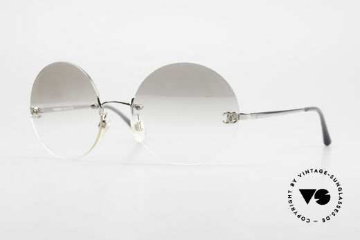 Chanel 4056 Round Luxury Sunglasses 90's Details