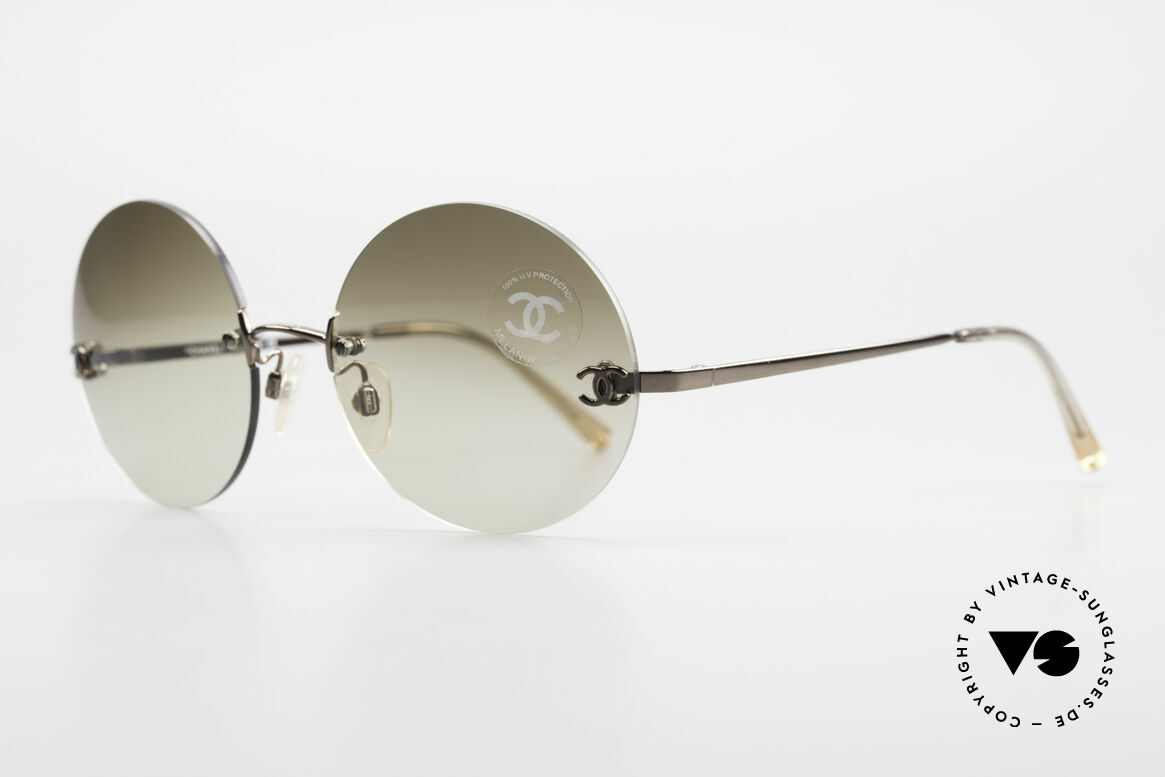 Chanel 4056 Round 90's Luxury Sunglasses, great combination of 'luxury lifestyle' & functionality, Made for Men and Women
