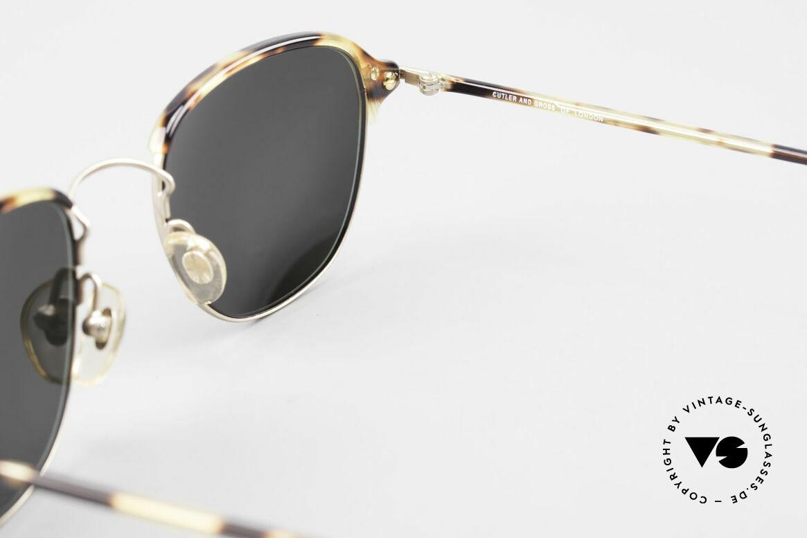 Cutler And Gross 0373 90's Panto Designer Sunglasses