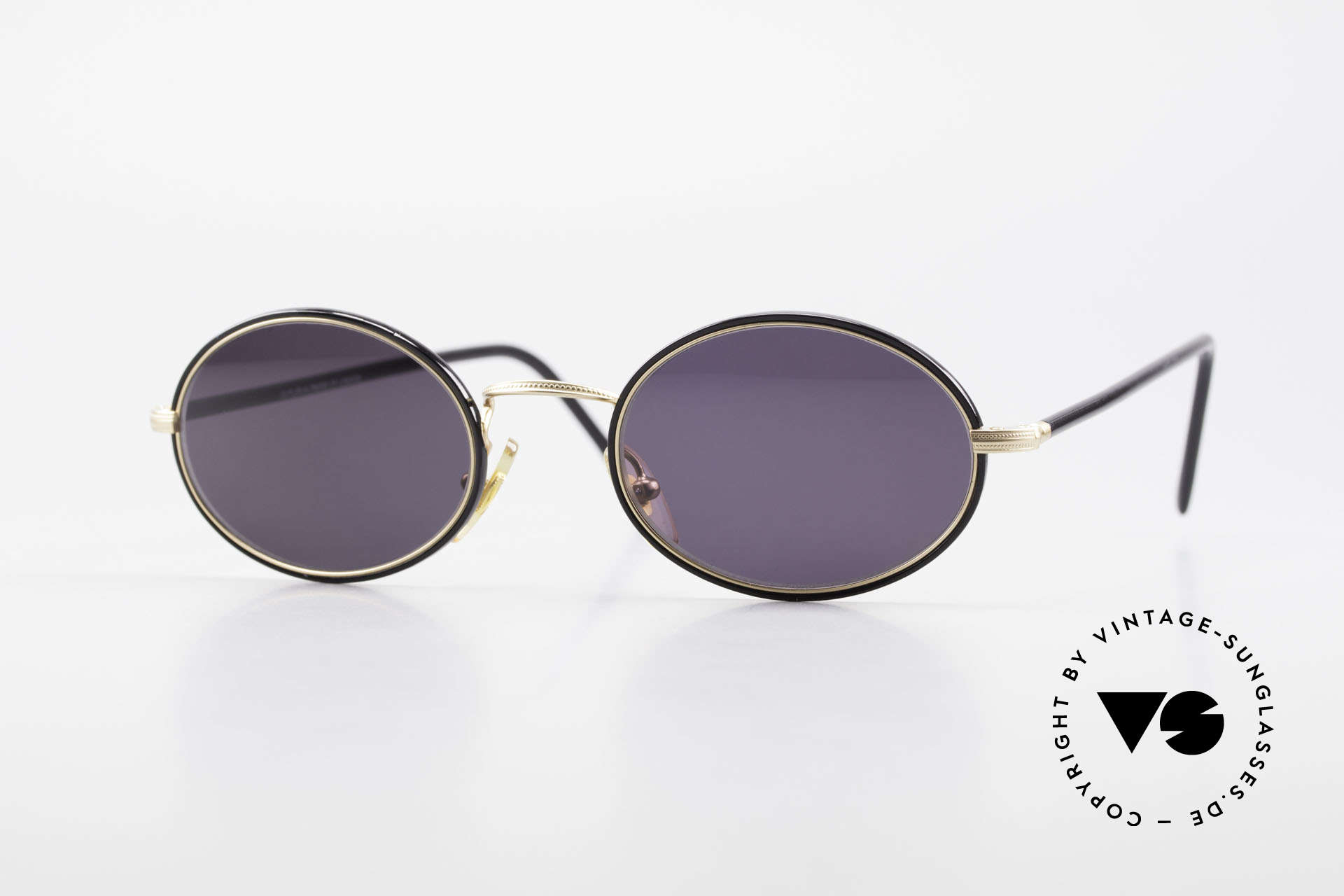 Cutler And Gross 0350 90's Oval Vintage Sunglasses, CUTLER and GROSS designer shades from the late 90's, Made for Men and Women