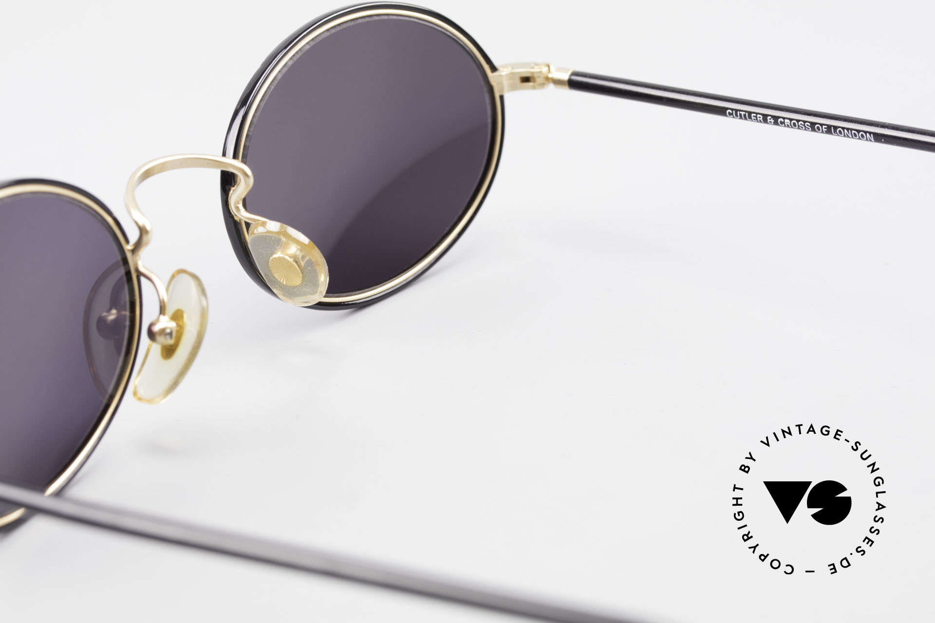 Cutler And Gross 0350 90's Oval Vintage Sunglasses, NO RETRO fashion, but a unique 20 years old ORIGINAL, Made for Men and Women