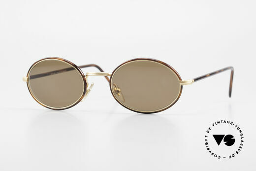 Cutler And Gross 0350 Oval Vintage Sunglasses 90's Details