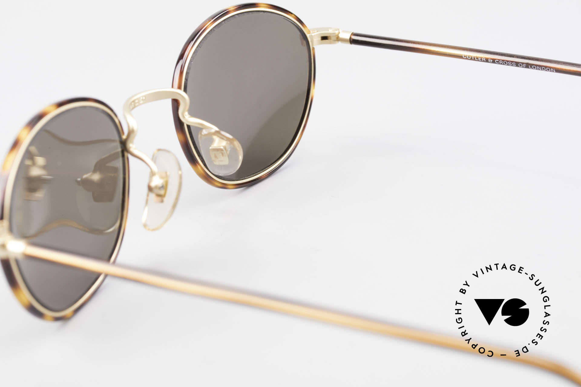 Cutler And Gross 0394 Classic Vintage Sunglasses 90s, NO RETRO fashion, but a unique 20 years old ORIGINAL, Made for Men and Women