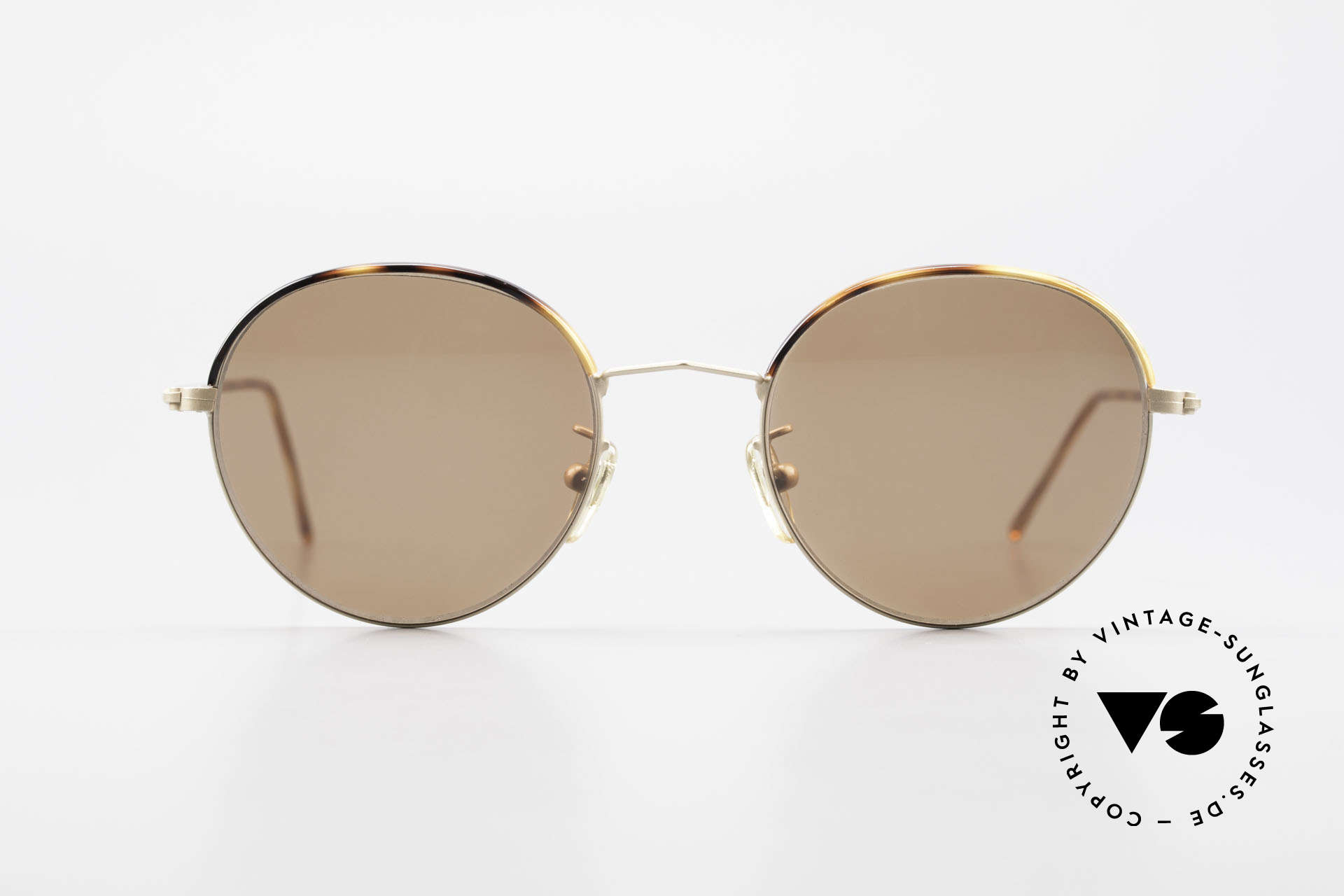 Cutler And Gross 0391 Round Shades Windsor Rings, classic, timeless UNDERSTATEMENT luxury sunglasses, Made for Men and Women
