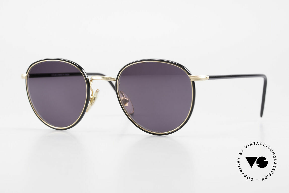 Cutler And Gross 0352 Vintage Panto Sunglasses 90s, CUTLER and GROSS designer shades from the late 90's, Made for Men and Women