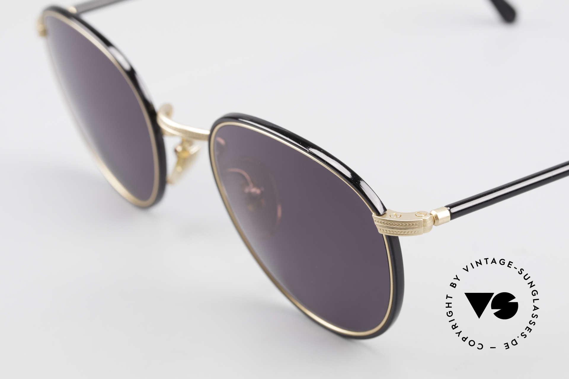 Cutler And Gross 0352 Vintage Panto Sunglasses 90s, very elegant combination of materials and classic colors, Made for Men and Women