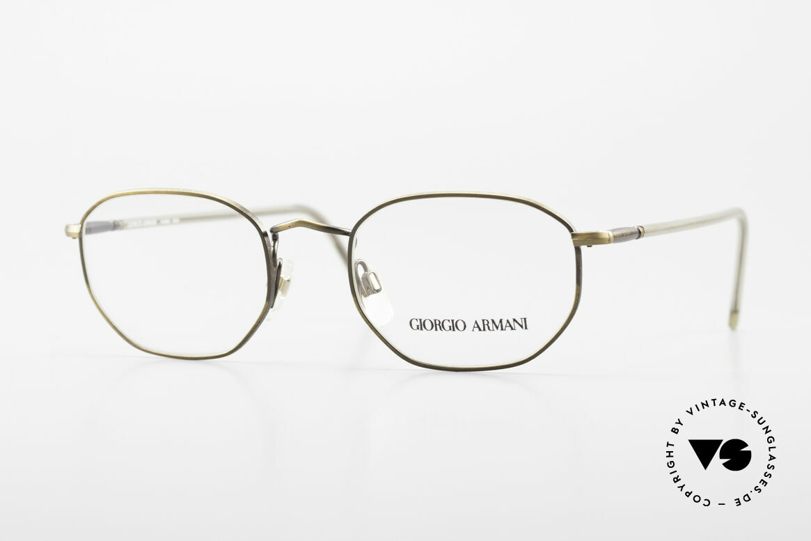 Giorgio Armani 187 Classic Men's Eyeglasses 90's, timeless vintage Giorgio Armani designer eyeglasses, Made for Men