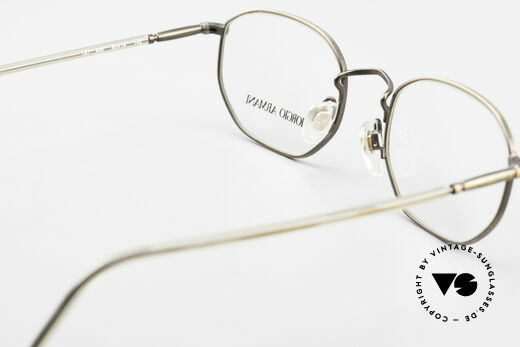 Giorgio Armani 187 Classic Men's Eyeglasses 90's, DEMO lenses can be replaced with optical (sun)lenses, Made for Men
