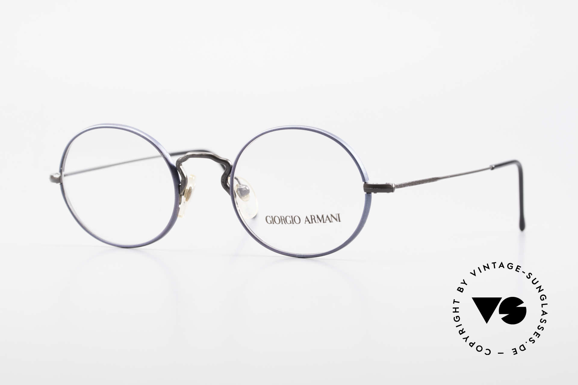 Giorgio Armani 247 No Retro Eyeglasses 90's Oval, vintage designer eyeglasses by Giorgio Armani, Italy, Made for Men and Women