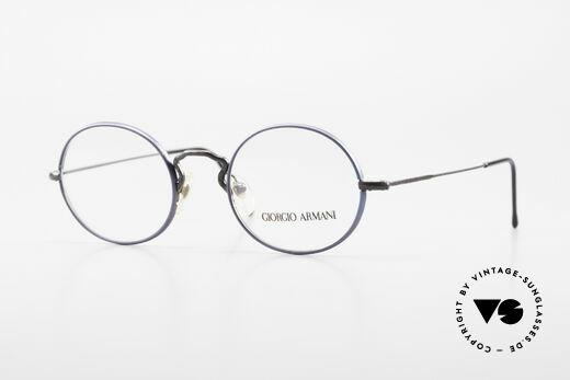 Giorgio Armani 247 No Retro Eyeglasses 90's Oval Details