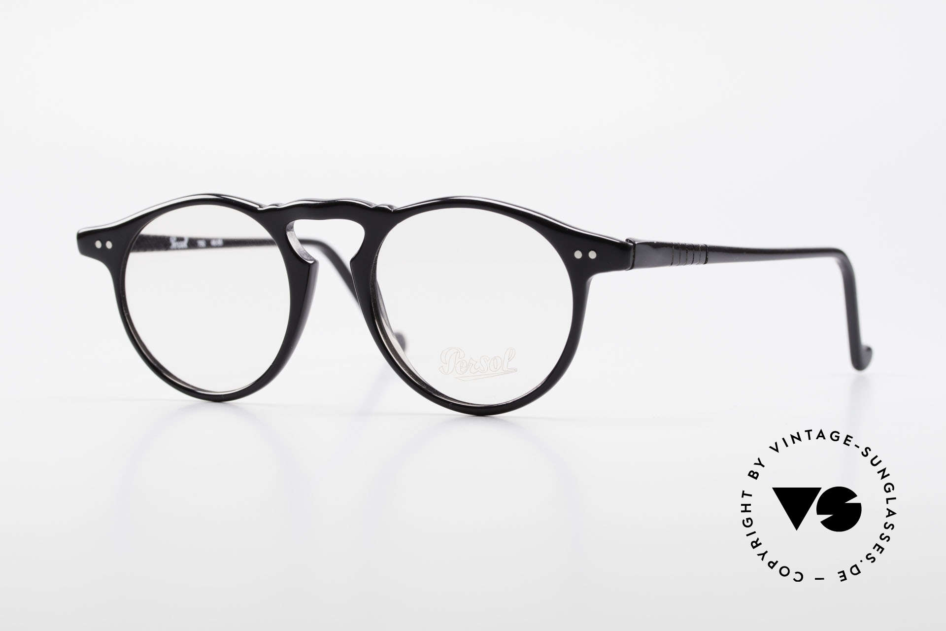 Persol 750 Ratti 80's Vintage Panto Eyeglasses, classic vintage eyeglass-frame by PERSOL RATTI, Made for Men and Women