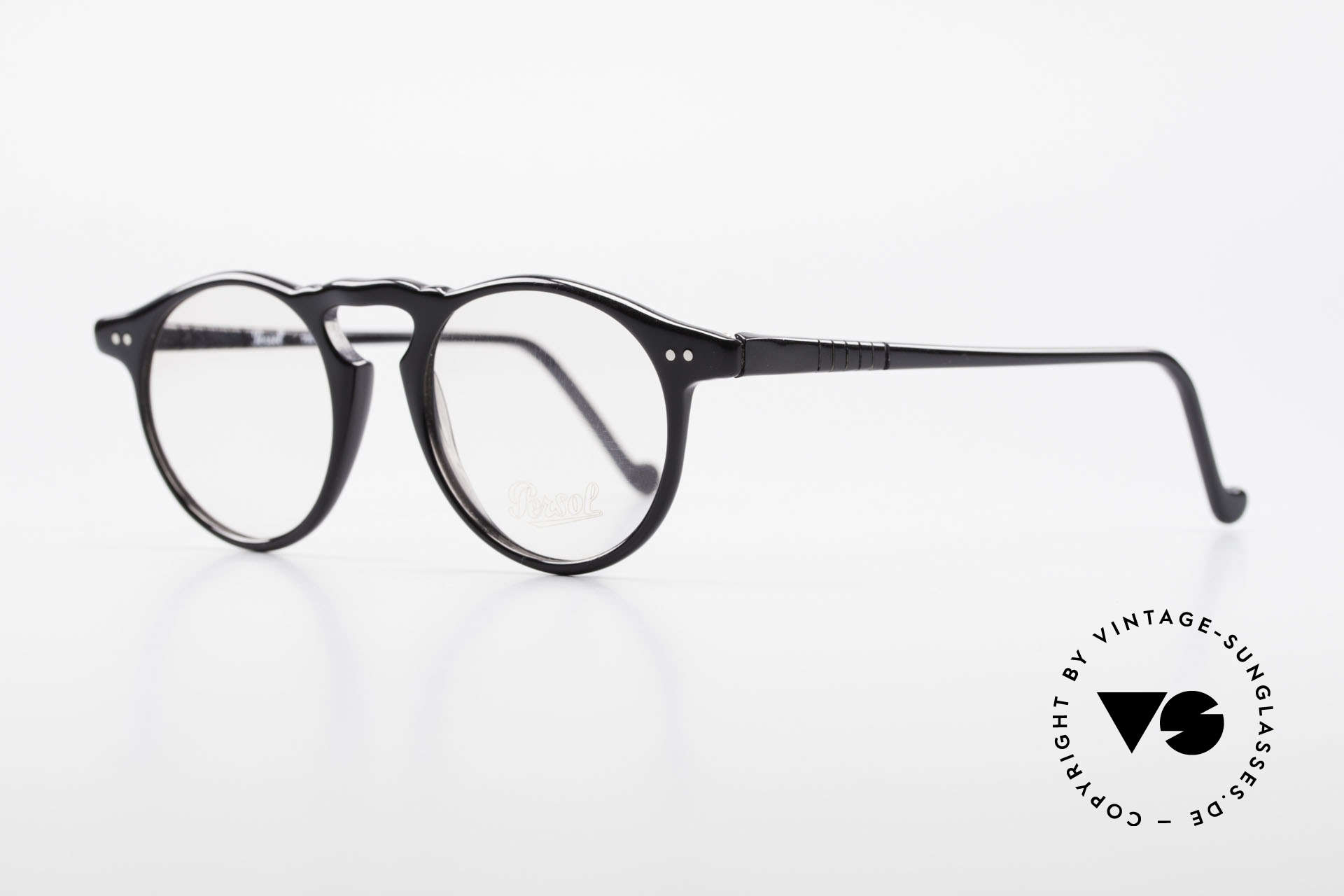Persol 750 Ratti 80's Vintage Panto Eyeglasses, 125mm width = designed for small faces / heads, Made for Men and Women