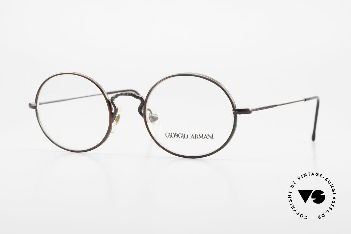 Giorgio Armani 247 Finish Shines Brown And Green, vintage designer eyeglasses by Giorgio Armani, Italy, Made for Men