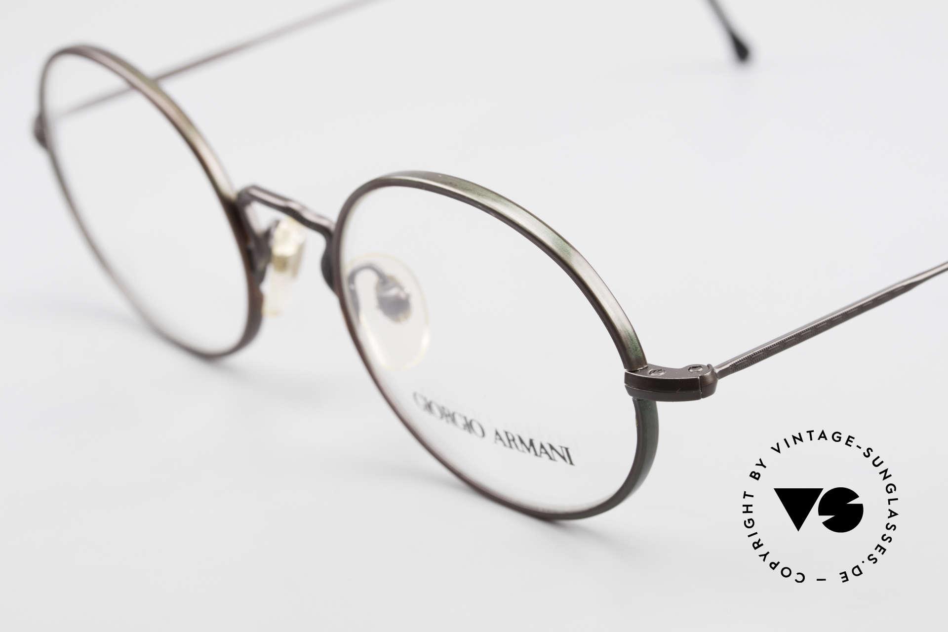 Giorgio Armani 247 Finish Shines Brown And Green, unworn rarity (like all our rare vintage GA eyewear), Made for Men