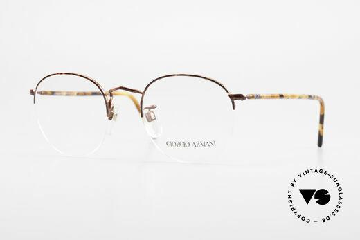 Giorgio Armani 142 Rimless Panto Glasses Small Details