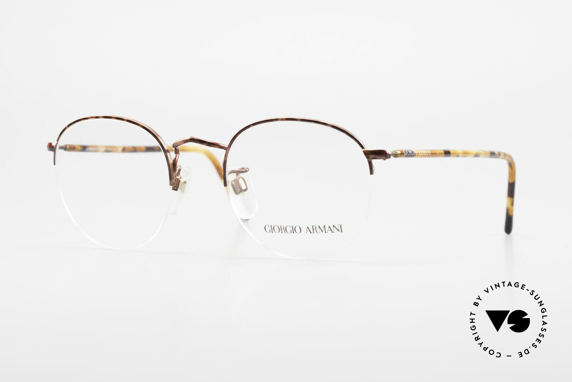 Giorgio Armani 142 Rimless Panto Glasses Small, timeless GIORGIO ARMANI vintage designer glasses, Made for Men and Women
