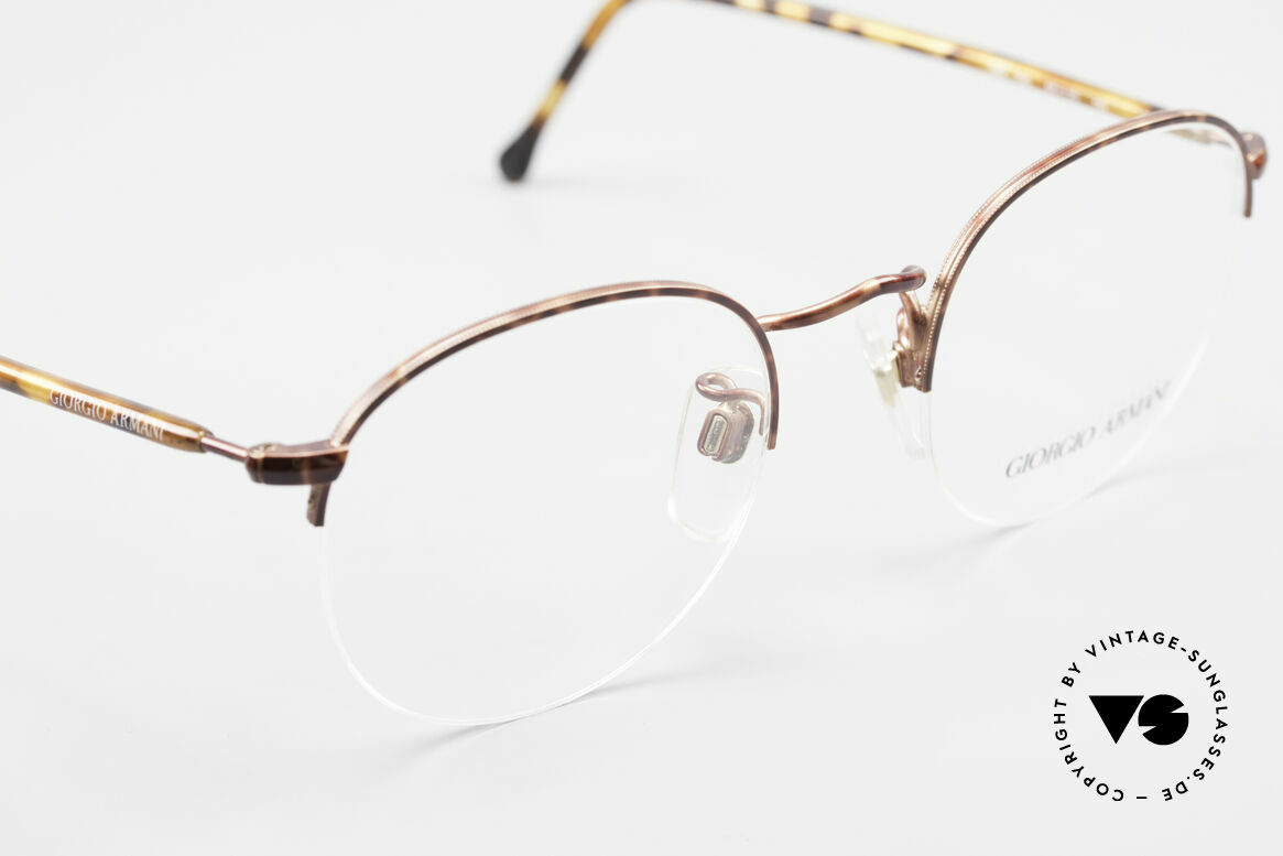 Giorgio Armani 142 Rimless Panto Glasses Small, NO RETRO EYEGLASSES, but a 30 years old Original, Made for Men and Women
