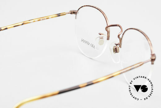 Giorgio Armani 142 Rimless Panto Glasses Small, model in SMALL size 48/20 can be glazed optionally, Made for Men and Women