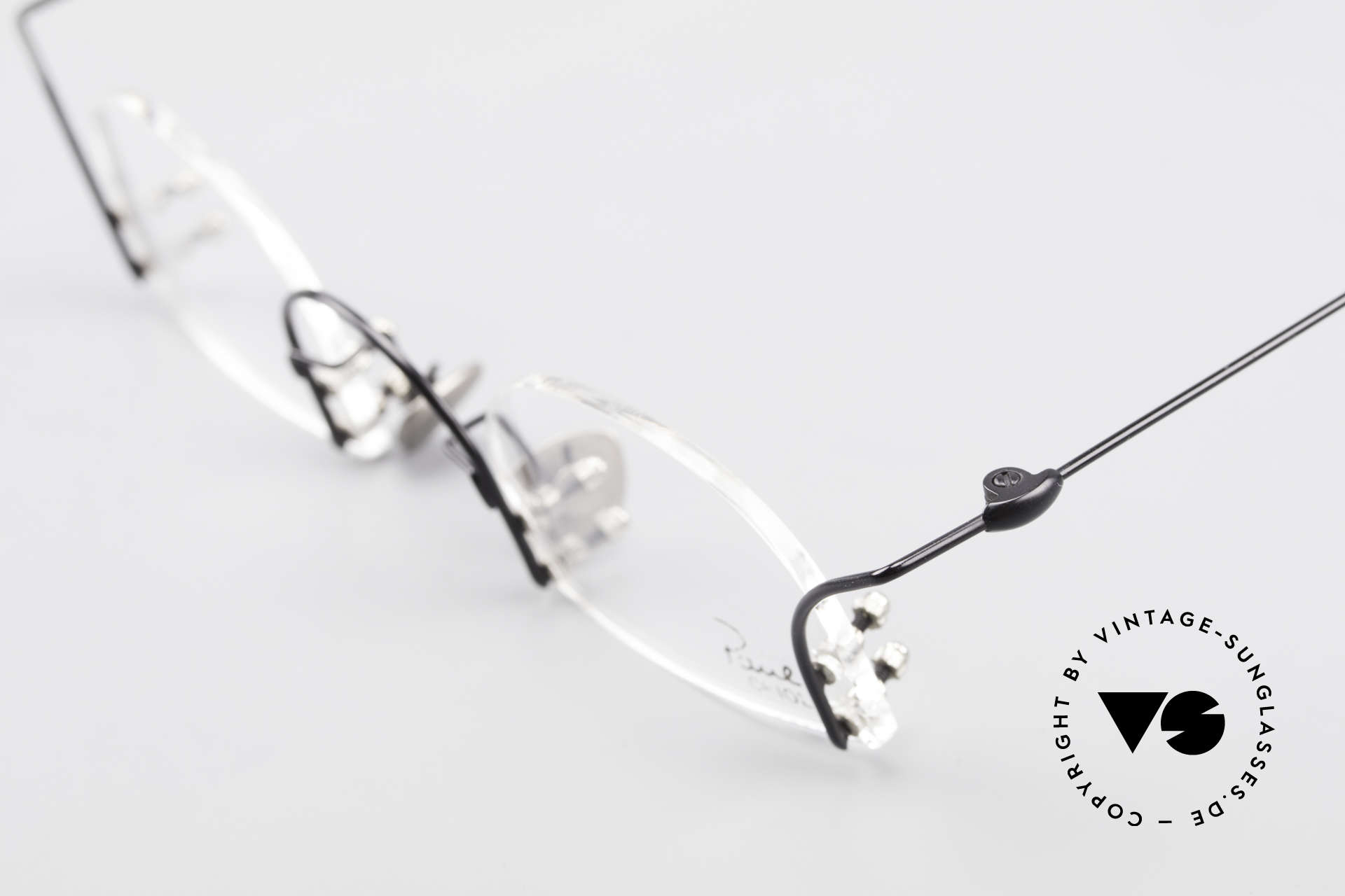 Paul Chiol 2000 Unique Rimless Eyeglasses, demo lenses can be replaced with optical lenses, Made for Men and Women