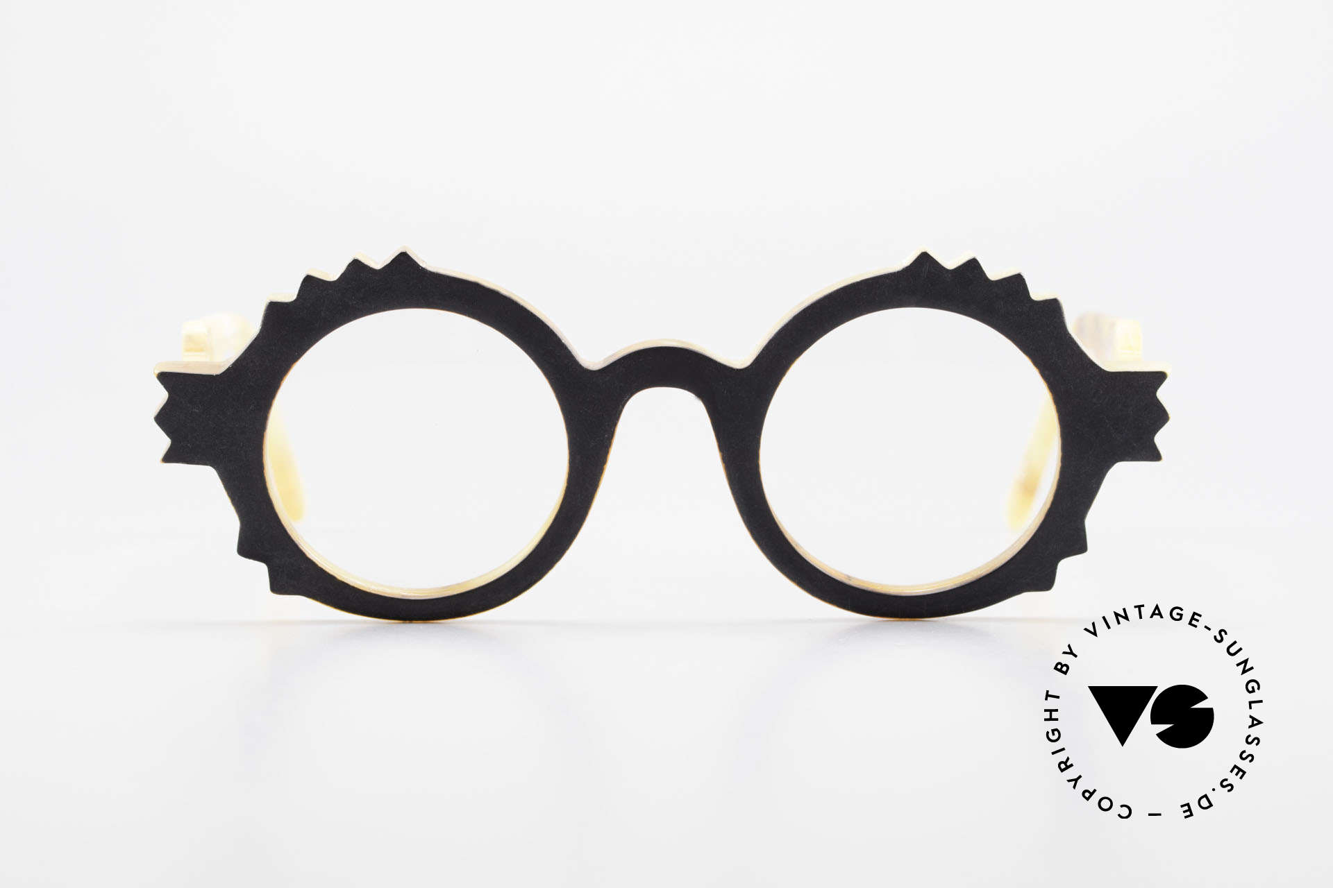 Anne Et Valentin Herrison Elaborate 80's Vintage Glasses, the couple Anne (artist) and Valentin (optician), Made for Women