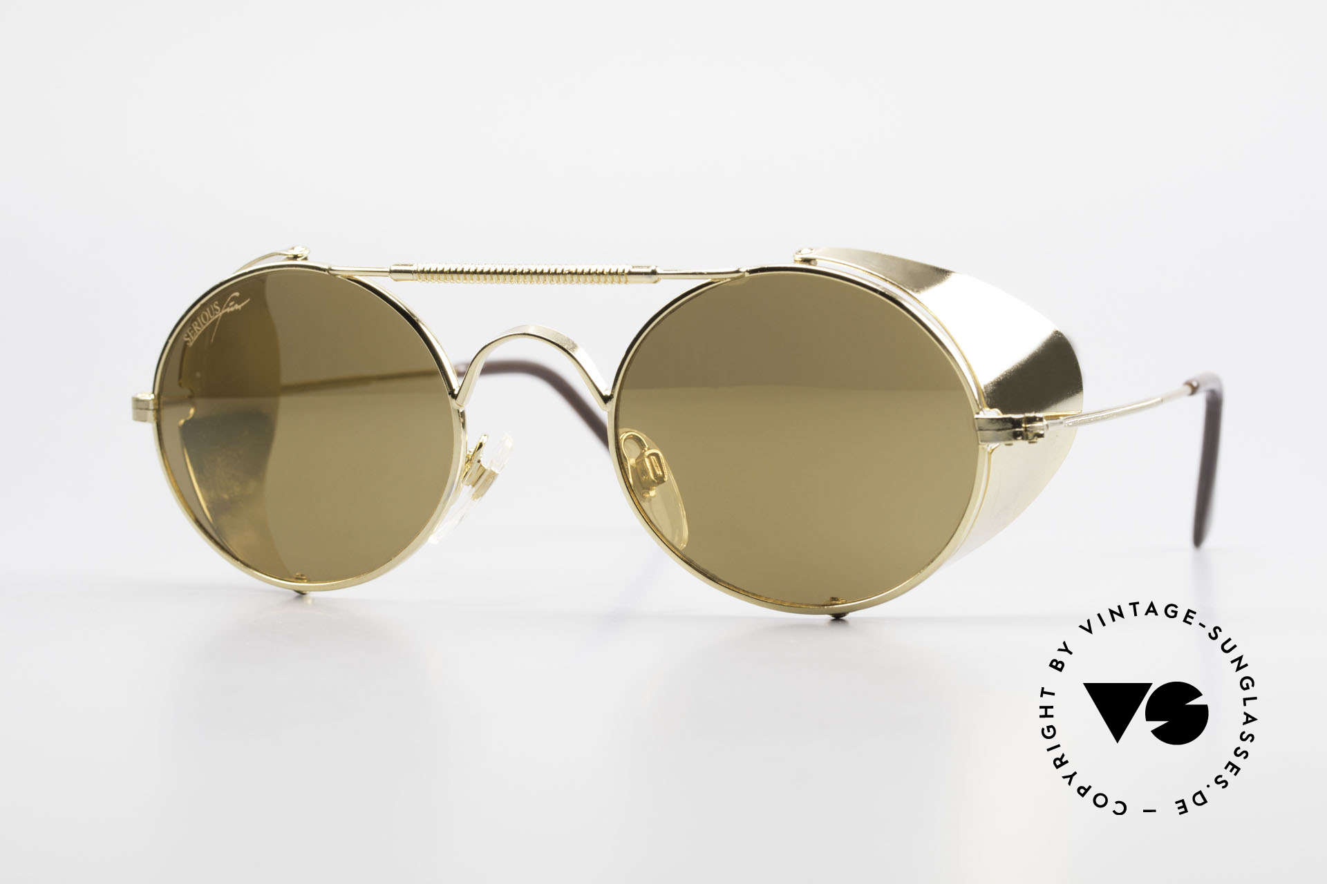 Serious Fun Frogman Steampunk Sunglasses Gold, old Serious Fun by Alpina sunglasses; model Frogman, Made for Men and Women