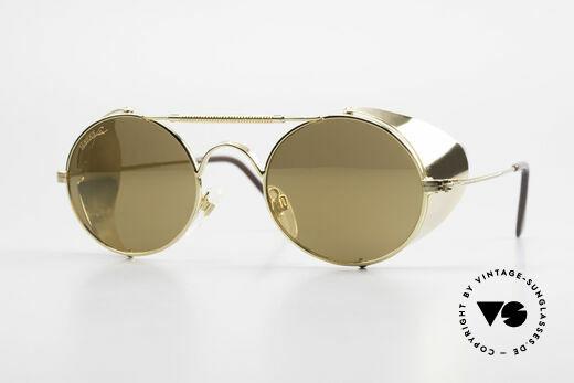 Serious Fun Frogman Steampunk Sunglasses Gold Details