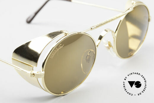 Serious Fun Frogman Steampunk Sunglasses Gold, TINY scratches on the lenses due to the long storage, Made for Men and Women