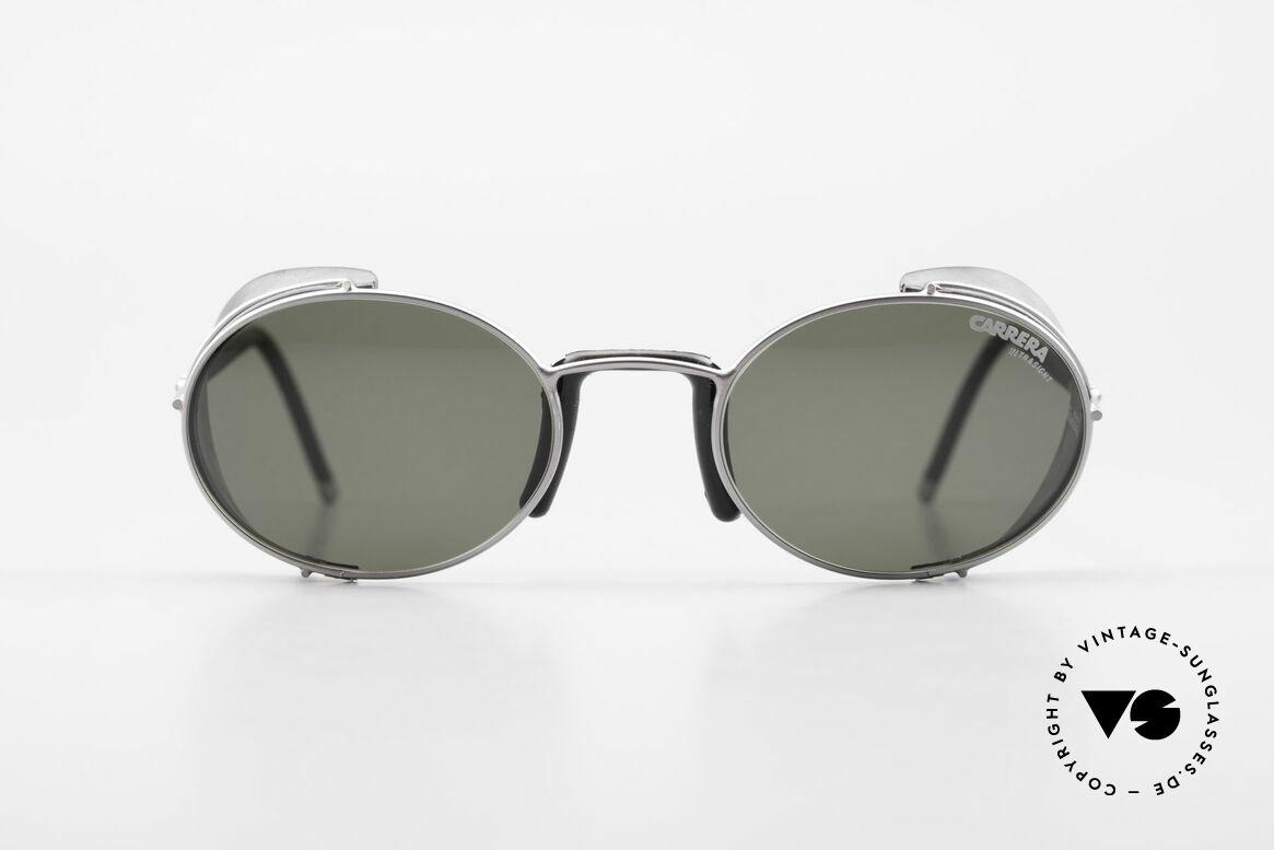 Carrera 5580 90's Sportsglasses Steampunk, silver/black frame with Carrera ULTRASIGHT sun lenses, Made for Men and Women