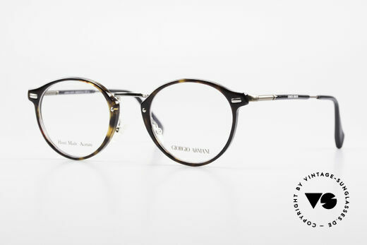 Giorgio Armani 828 Round Panto Eyeglass-Frame Details