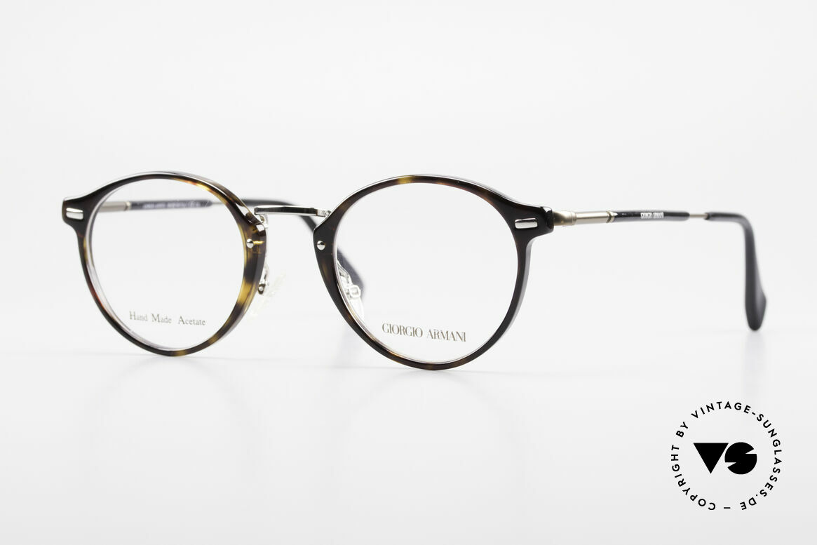 Giorgio Armani 828 Round Panto Eyeglass-Frame, timeless GIORGIO ARMANI vintage designer glasses, Made for Men and Women