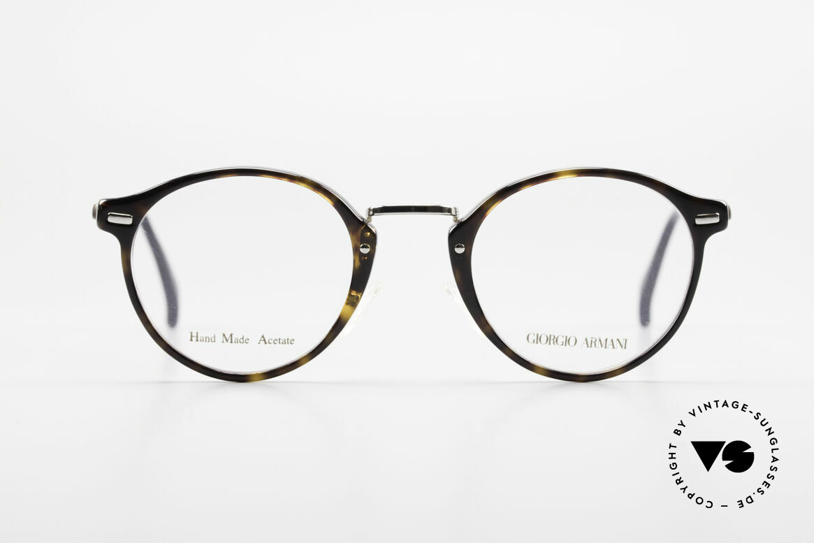 Giorgio Armani 828 Round Panto Eyeglass-Frame, round 'panto design' with discreet elegant coloring, Made for Men and Women