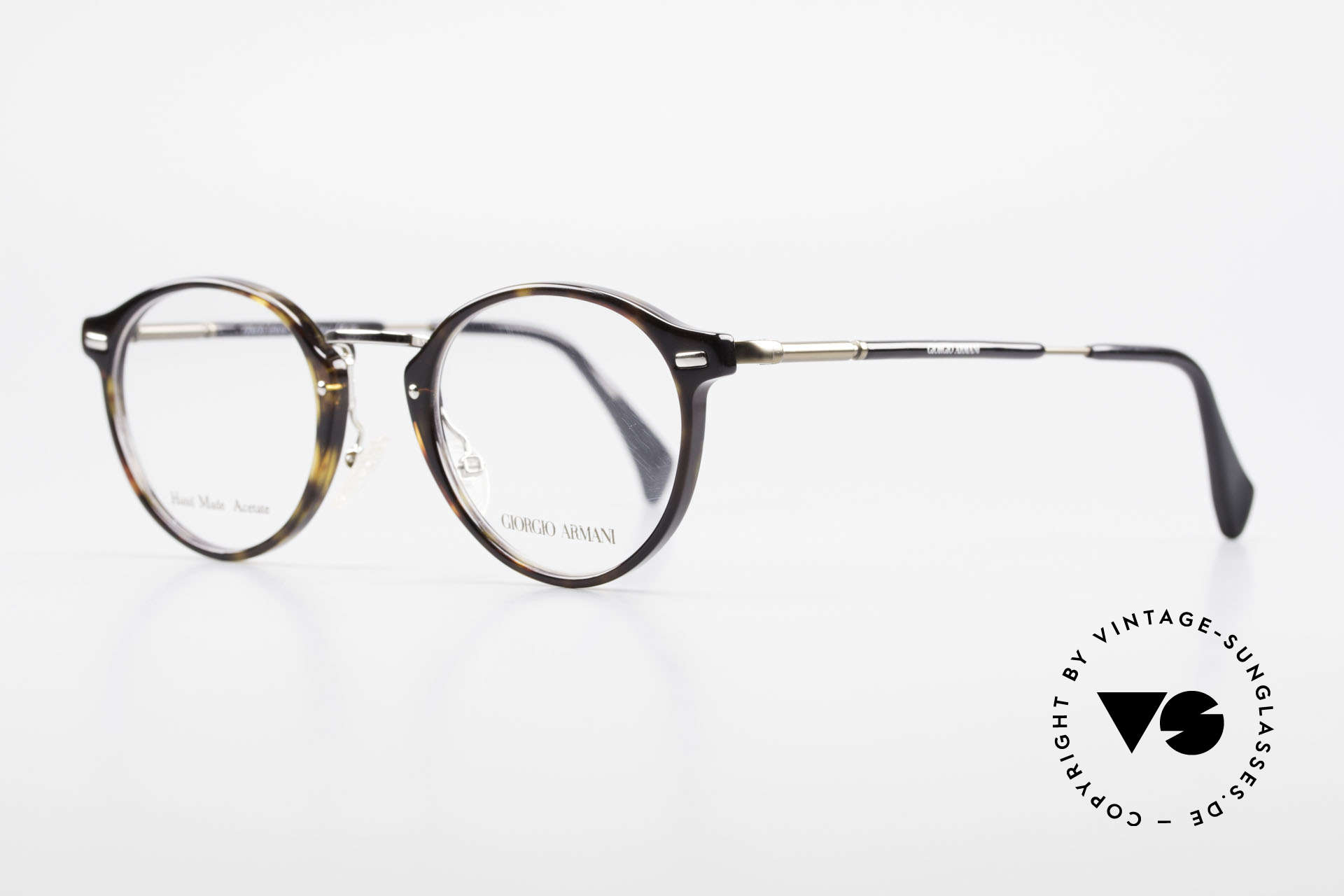 "Giorgio Armani 828 Round Panto Eyeglass-Frame, noble combination of bronze, silver and ""tortoise"", Made for Men and Women"