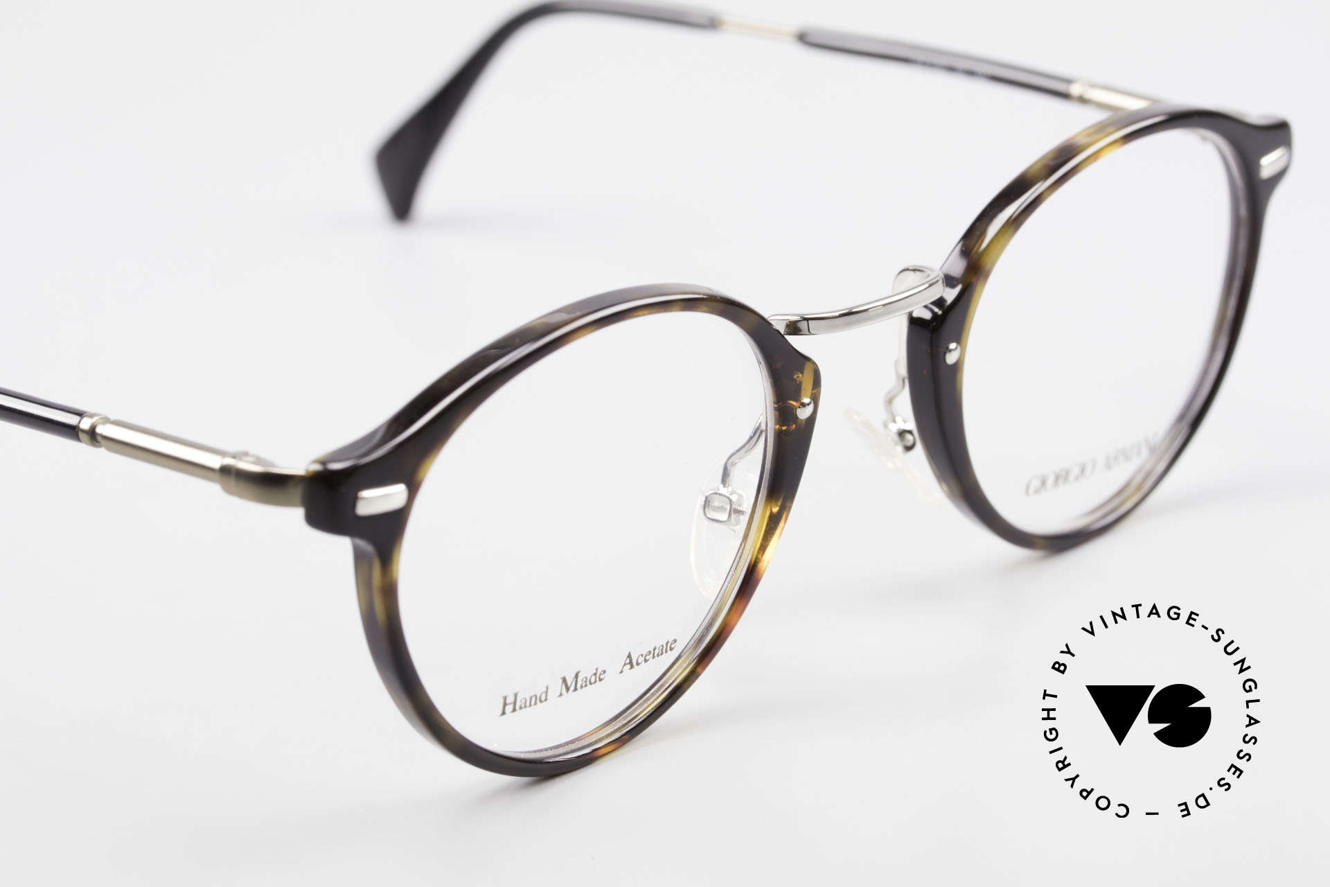 Giorgio Armani 828 Round Panto Eyeglass-Frame, with flexible spring hinges for a 1st class comfort, Made for Men and Women