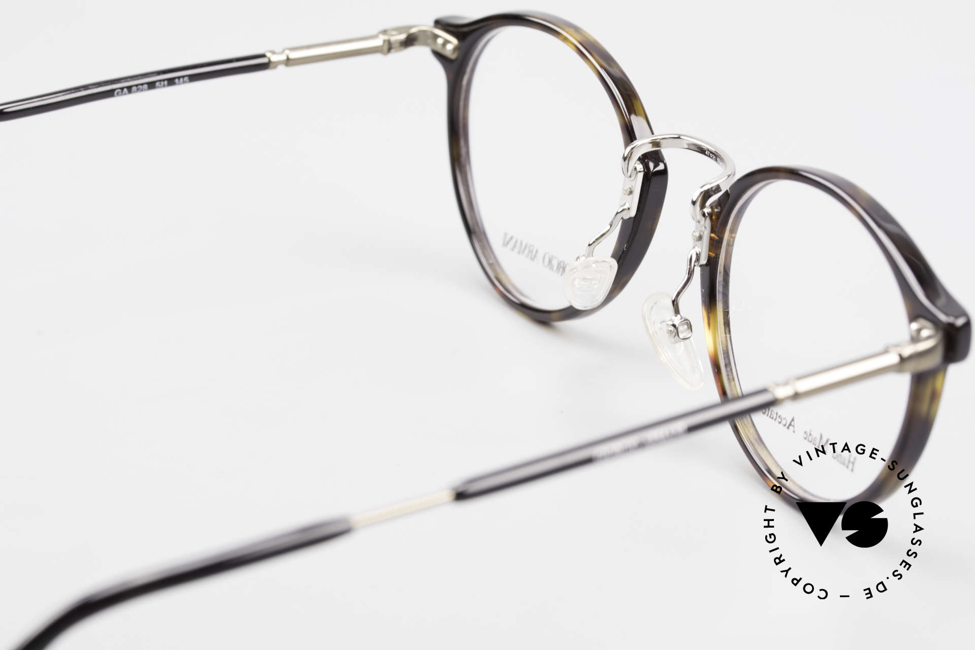 Giorgio Armani 828 Round Panto Eyeglass-Frame, frame can be glazed with optical lenses of any kind, Made for Men and Women