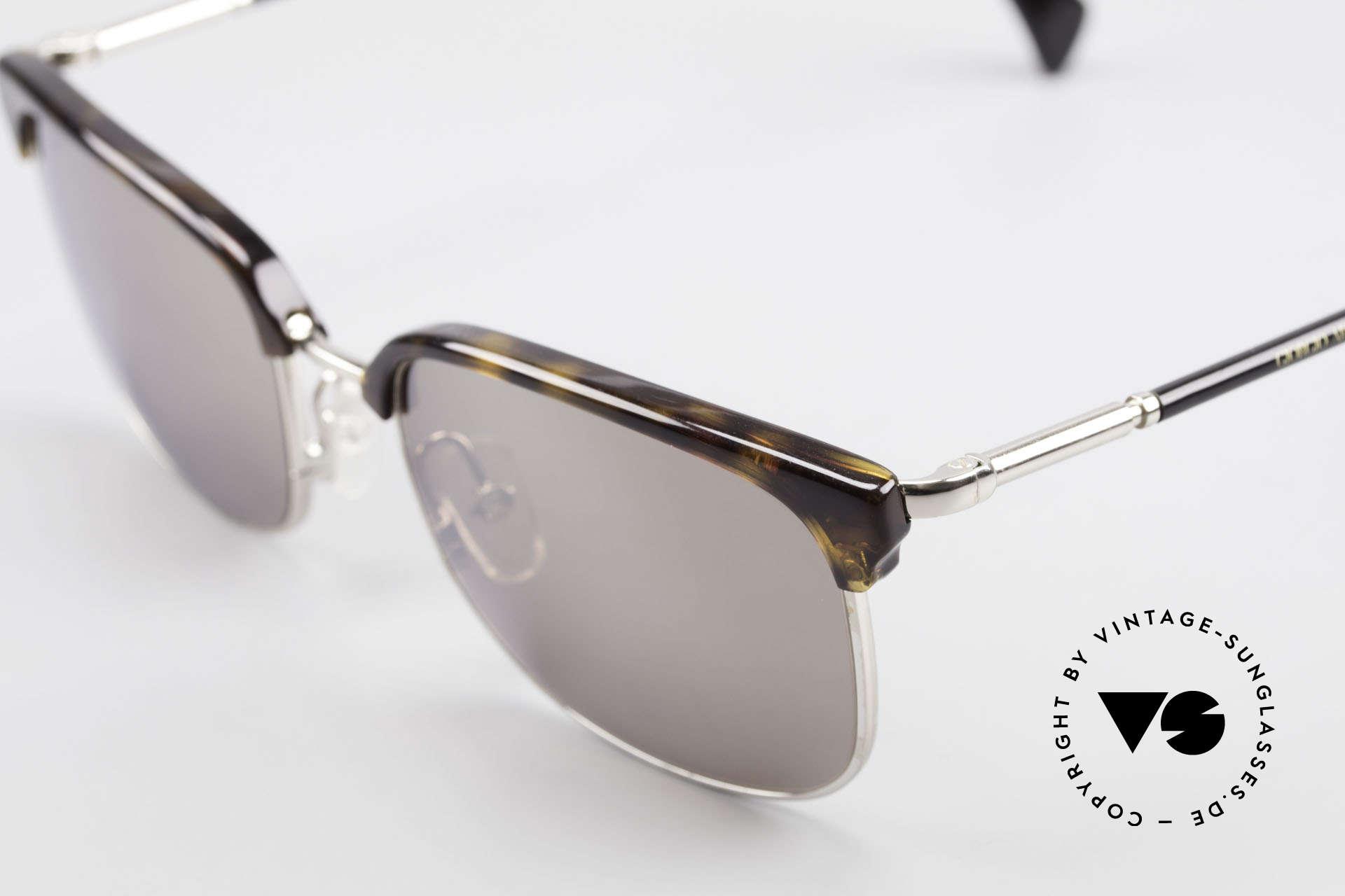 Giorgio Armani 788 Square Panto Sunglasses Men, light mirrored sun lenses (for 100% UV protection), Made for Men