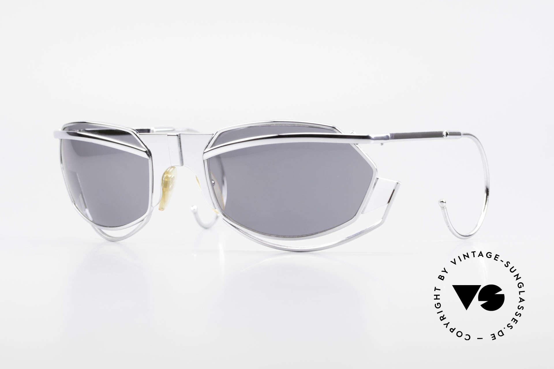 IDC G1 Folding Large Folding Sunglasses 90's, 'spacy' VINTAGE designer sunglasses by IDC, France, Made for Men