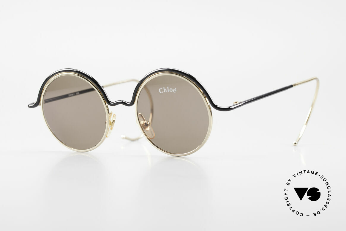 Chloe Show 1 Round Ladies Sunglasses 90's, round vintage designer sunglasses by CHLOE, Made for Women