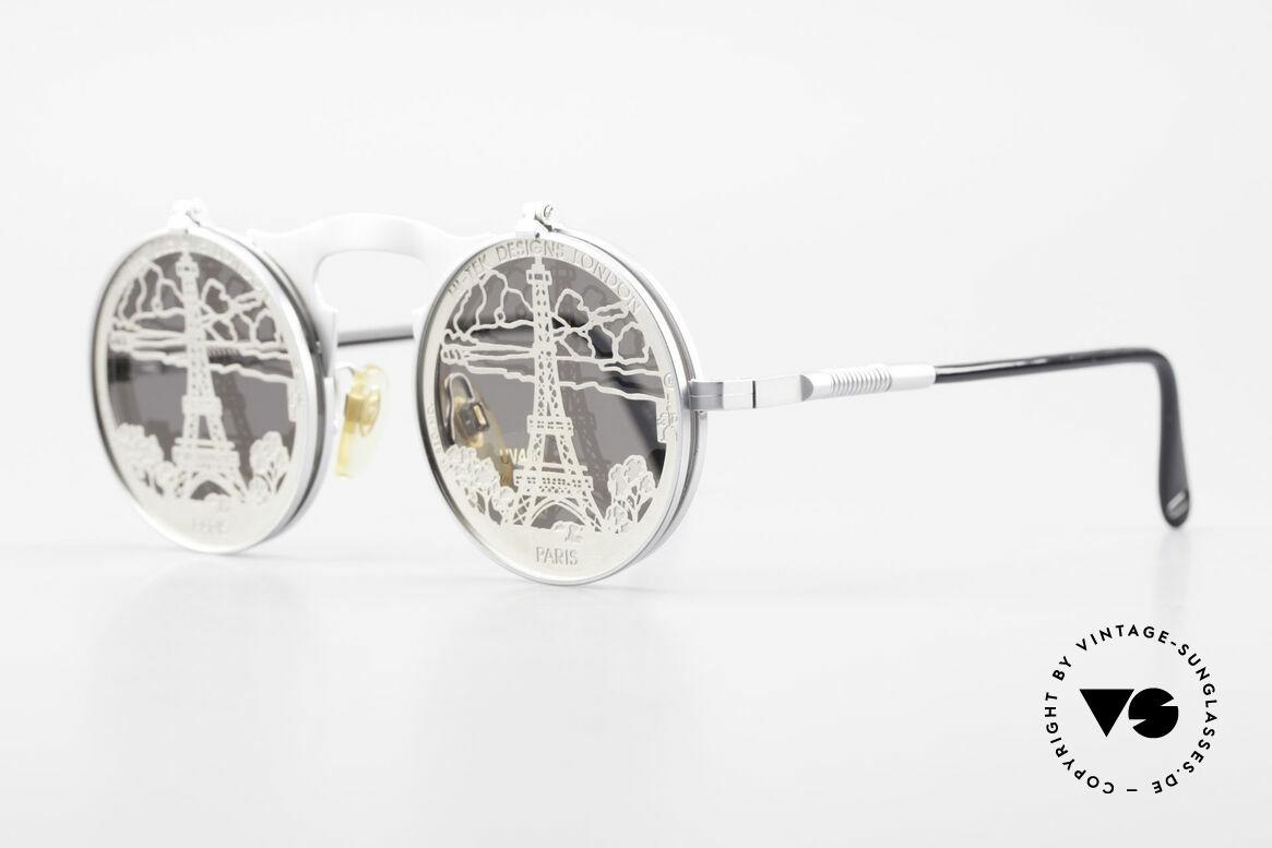 "Hi Tek Paris Flip Up Sunglasses Steampunk, designed by Alexander Tasou for all ""PARIS lovers"", Made for Men and Women"