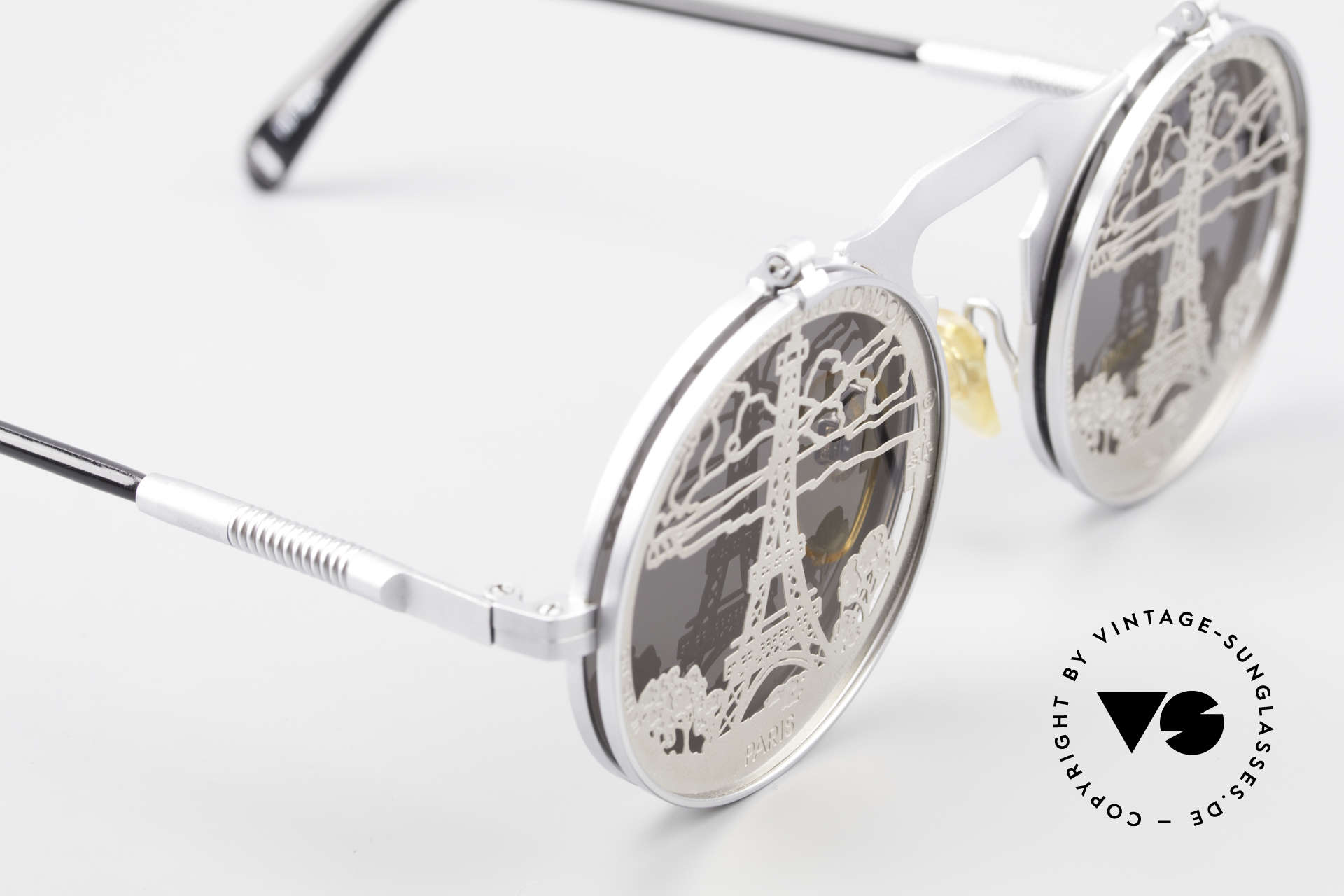 Hi Tek Paris Flip Up Sunglasses Steampunk, unworn rarity (like all our industrial vintage shades), Made for Men and Women