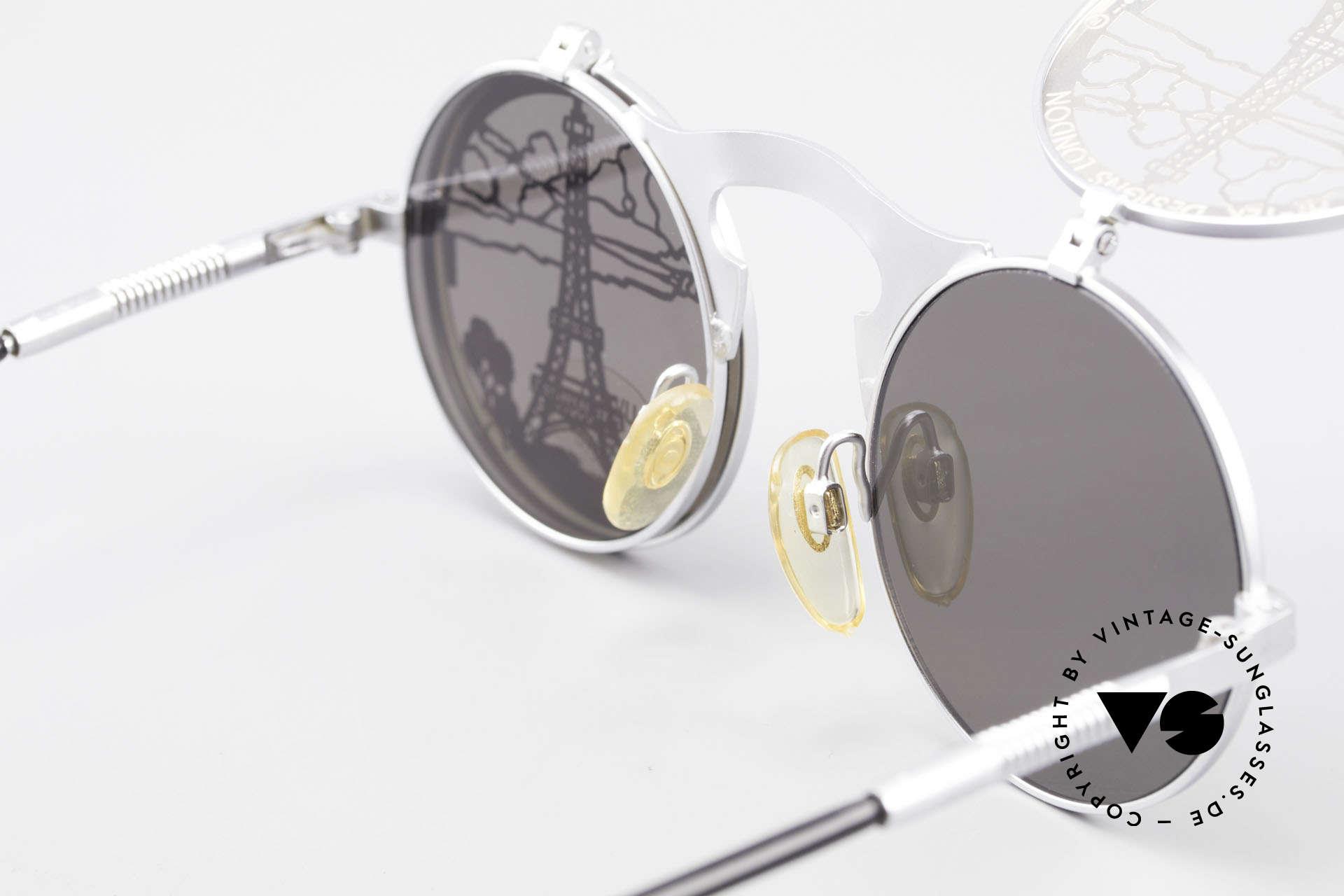 Hi Tek Paris Flip Up Sunglasses Steampunk, an old 1990's ORIGINAL and NO RETRO reproduction, Made for Men and Women