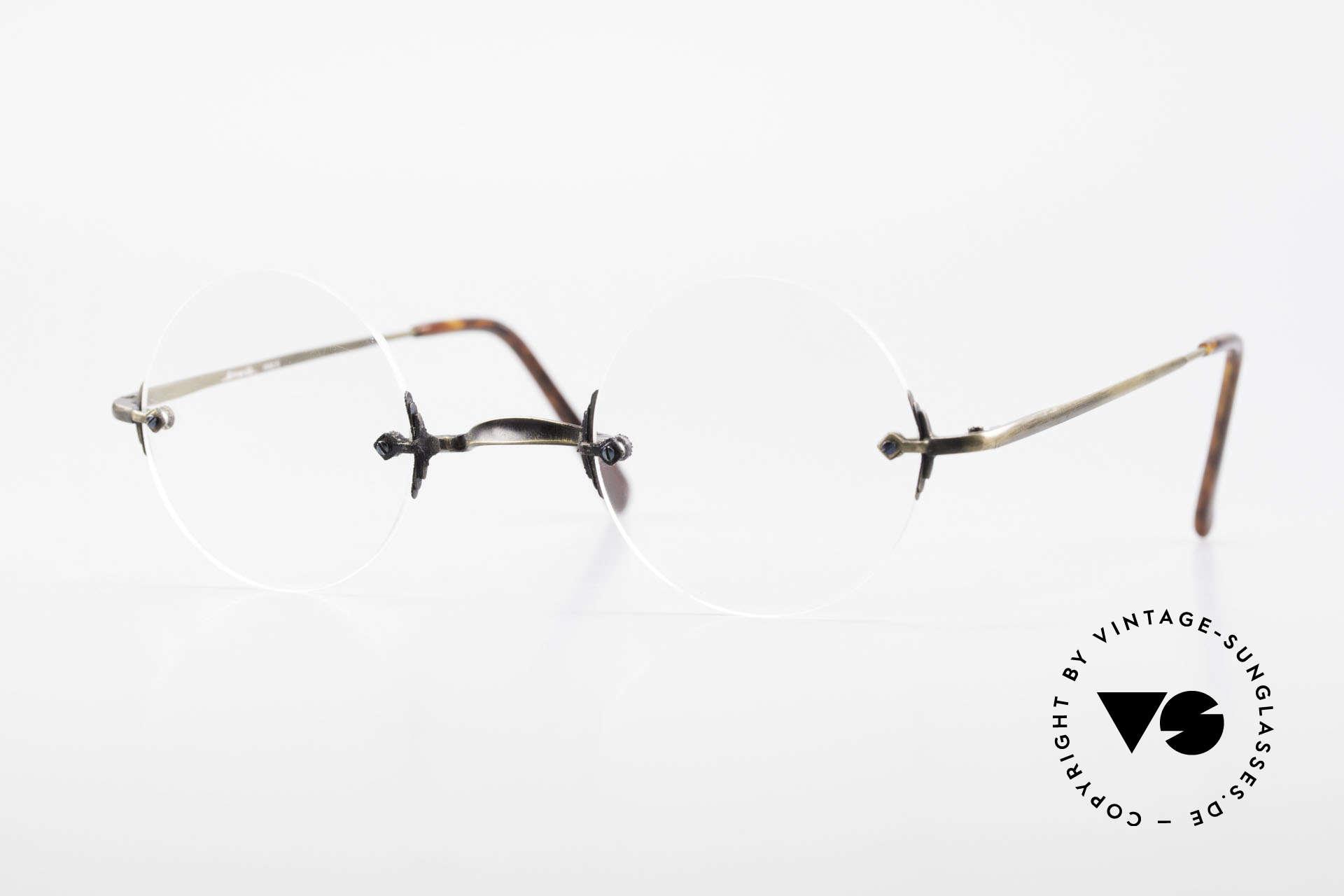 Bonneville by Brendel Timeless Plain Rimless Specs, Bonneville by Brendel, model 6, vintage frame, Made for Men and Women