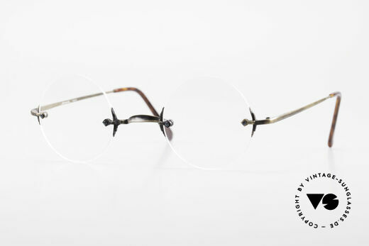 Bonneville by Brendel Timeless Plain Rimless Specs Details