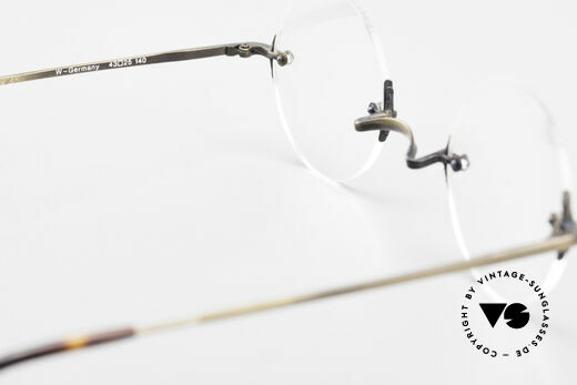 Bonneville by Brendel Timeless Plain Rimless Specs, NO RETRO, but a precious old vintage ORIGINAL, Made for Men and Women