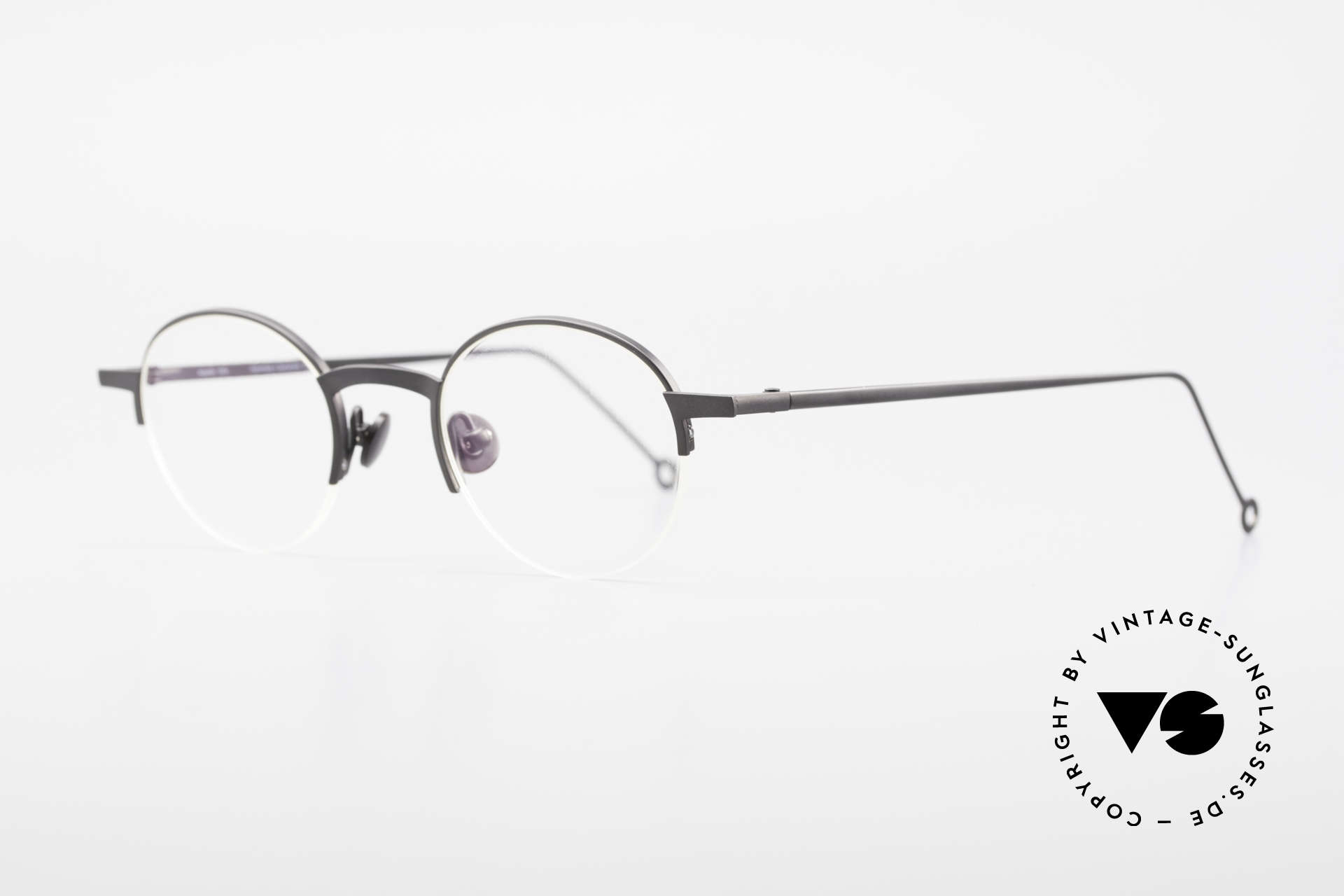 Markus Marienfeld Sina Pure Titanium Frame Handmade, classic Panto Style glasses in top-notch quality, Made for Men and Women