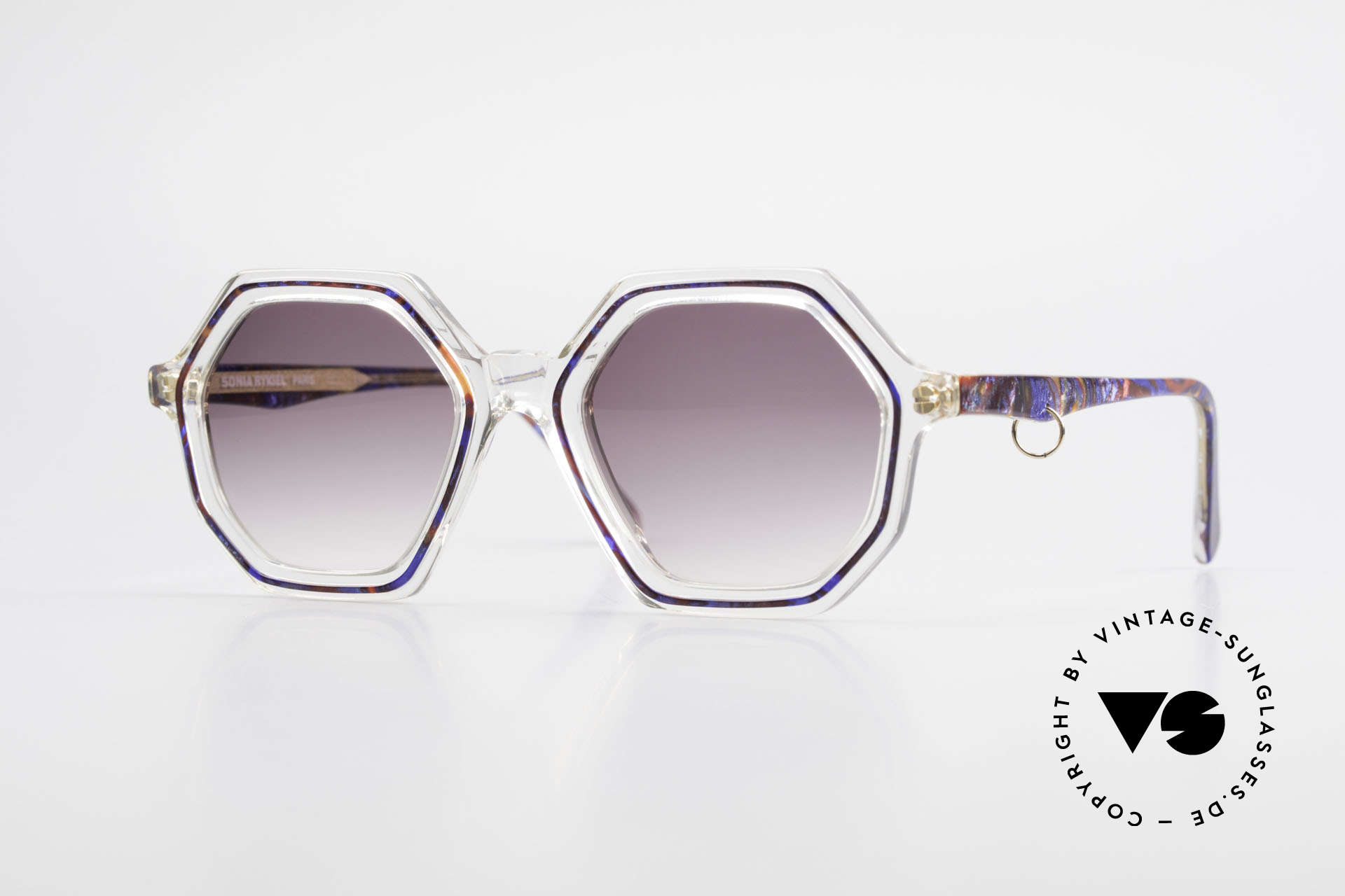 Sonia Rykiel SR46 756 Octagonal 70's Sunglasses, fancy, octagonal sunglasses of the 70's by Sonia Rykiel, Made for Women