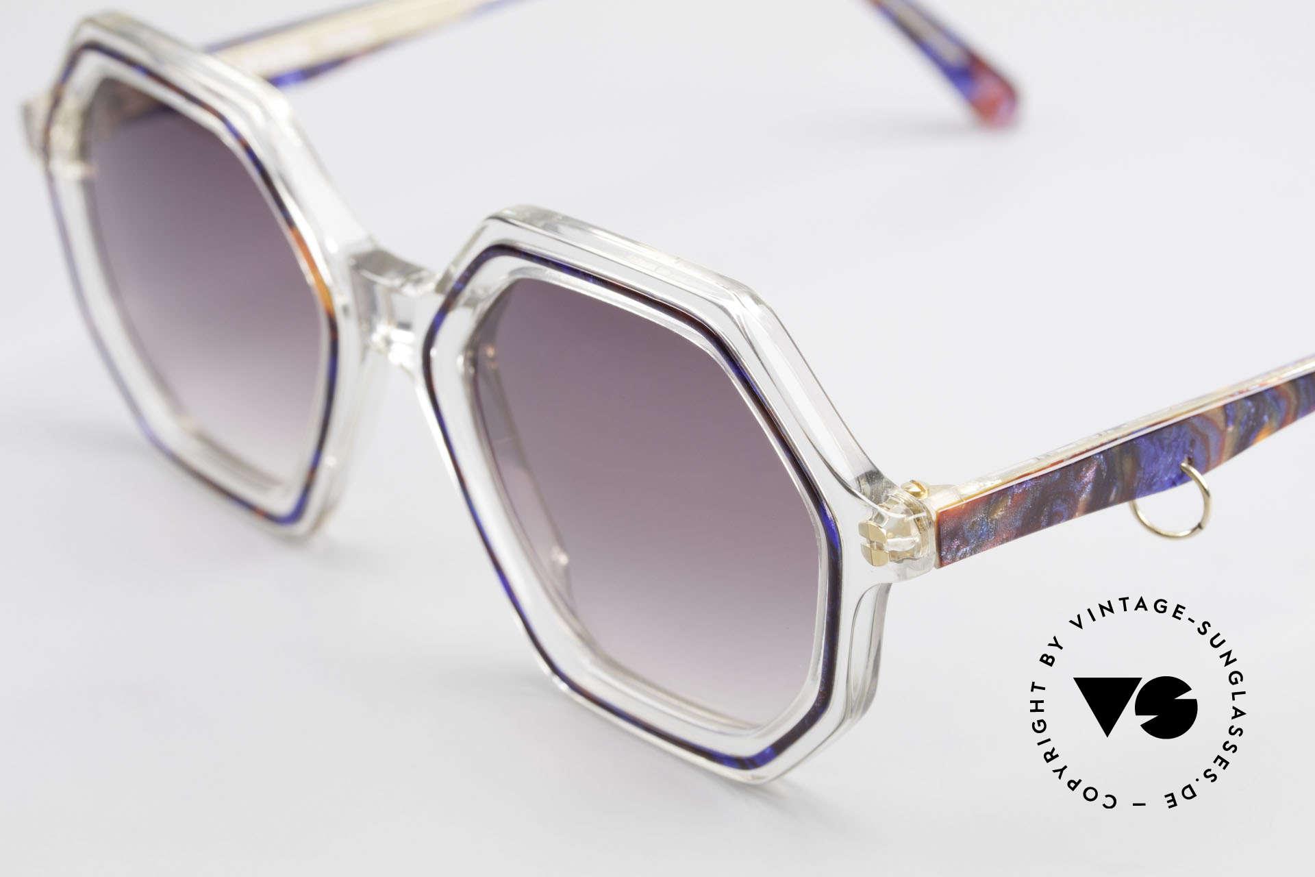 Sonia Rykiel SR46 756 Octagonal 70's Sunglasses, unworn designer piece (like all our vintage sunglasses), Made for Women