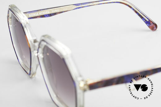 Sonia Rykiel SR46 756 Octagonal 70's Sunglasses, sun lenses (100% UV) can be replaced with prescriptions, Made for Women