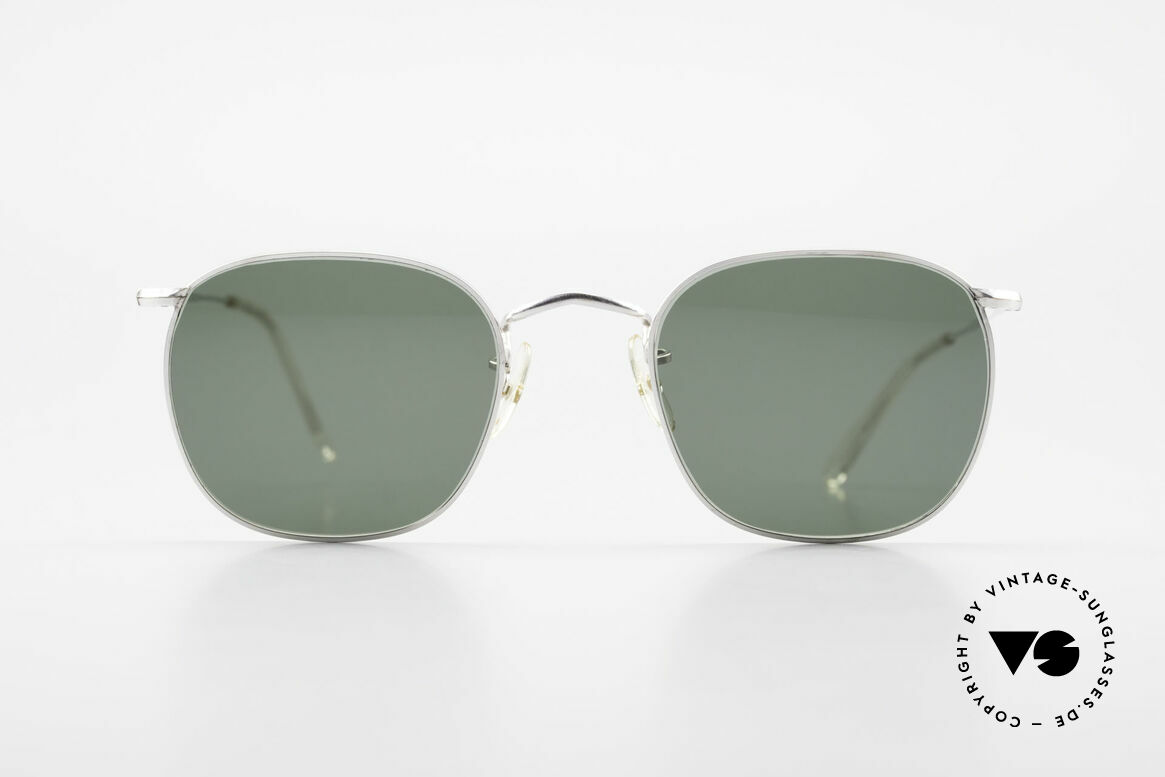 "Algha Quadra 50/22 Old Gold Filled Sunglasses, legendary ""QUADRA"" design from the mid 1970's, Made for Men"