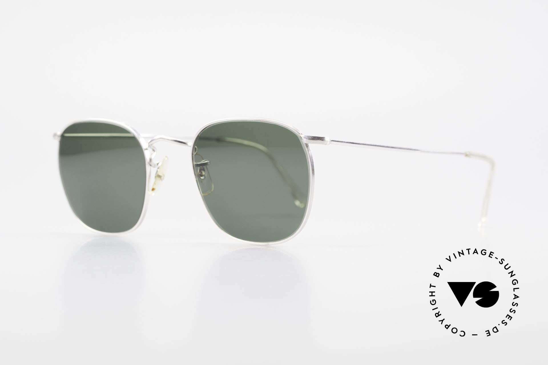 Algha Quadra 50/22 Old Gold Filled Sunglasses, finest manufacturing (handmade in England, UK), Made for Men